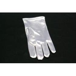 2 gants 20cm BLANC adulte