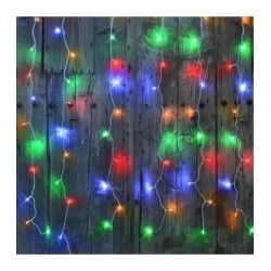 Rideau lumineux FLICKER LED 96 multicolore 1m x 2m