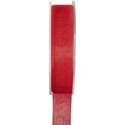 ruban organdi 7 mm x 20 mètres rouge