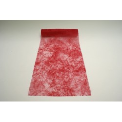 nappage : chemin de table 10mx30cm rouge pompier