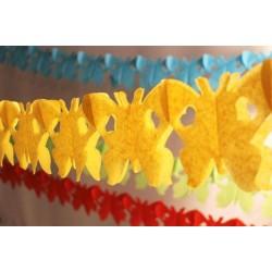 déco en papier : guirlande papillons 4m Jaune