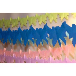 déco en papier : guirlande de colombe 4m turquoise