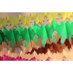 déco en papier : guirlande de colombe 4,5m vert prairie