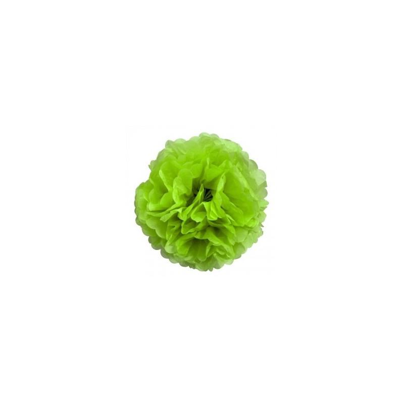 fleurs en papier de soie 30 cm vert anis. Black Bedroom Furniture Sets. Home Design Ideas