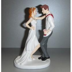 Sujet mariés dansant humoristique