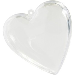20 coeurs en plexi transparent 6cm