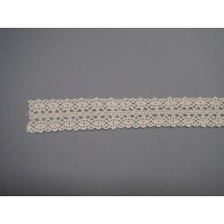 "Ruban ""crochet"" ivoire 2.5cmx3m"