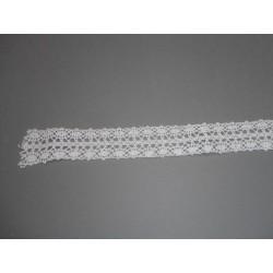 "Ruban ""crochet"" blanc 2.5cmx3m"