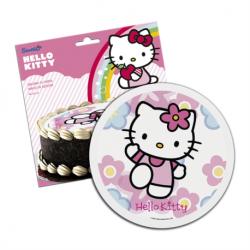 Disque en sucre hello kitty 16 cm