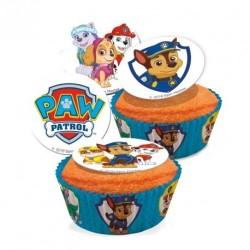 50 caissettes cupcakes 5x3cm paw patrol