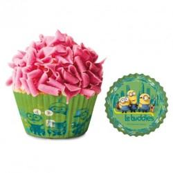 50 caissettes cupcakes 5x3cm minion