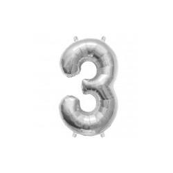 """chiffre ballon alu 35cm """"3"""""""