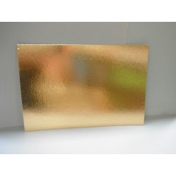 Plaque carton rectangulaire or 40x60cm 1100g/m²