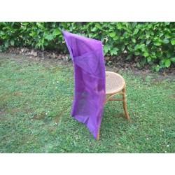 2 housses de chaise violet