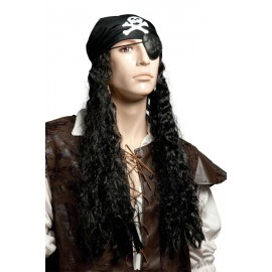 perruque pirate avec dreadlocks et foulard