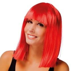 perruque star carré rouge
