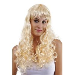 Perruque BETTY - longue ondulée avec frange - blond
