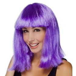 Perruque STAR - carré - violet