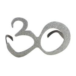 Lunettes plastique - âge - paillettes argent - 30