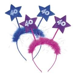 Serre-tête étoile 40 - rose