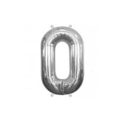 """chiffre ballon alu 35cm """"0"""""""