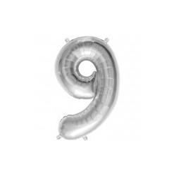 """chiffre ballon alu 35cm """"9"""""""