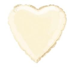 Ballon mylar coeur 45.1cm blanc