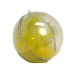 conditionnement plastique : boule transparente 8 cm (les 5)