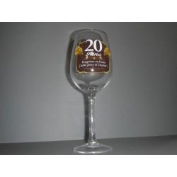Verre à vin 20 ans