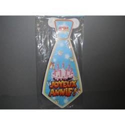 6 cravates en carton joyeux anniversaire