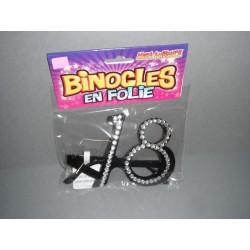 Lunettes plastique - âge -strass- 18