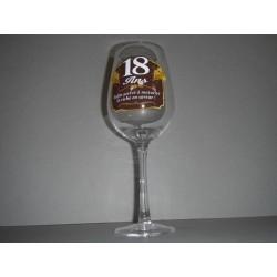 Verre à vin 18 ans