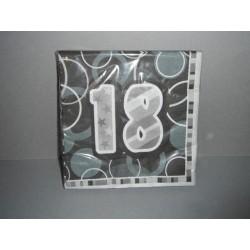 16 serviettes papier 18 ans roses