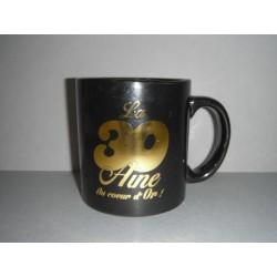 """Mug géant noir et or """"la 20 aine ça vaut de l'or!"""""""
