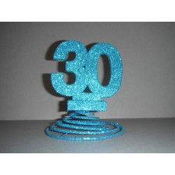 Centre de table 20ans turquoise