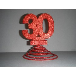 Centre de table 20ans rouge