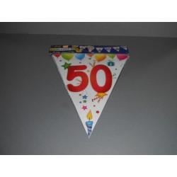 déco : guirlande PLASTIFIEE 6m «chiffre 50» multicolo(re