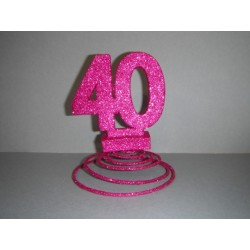 Centre de table 20ans fuchsia
