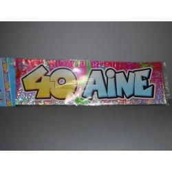 déco : banderole 3.20m joyeux anniversaire 40 ans