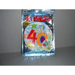 Ballons 40ans 56 cm multicolore