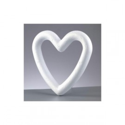 coeur polystyrène 20cm cadre