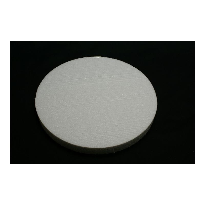 polystyrène : rond 300x300x29 mm