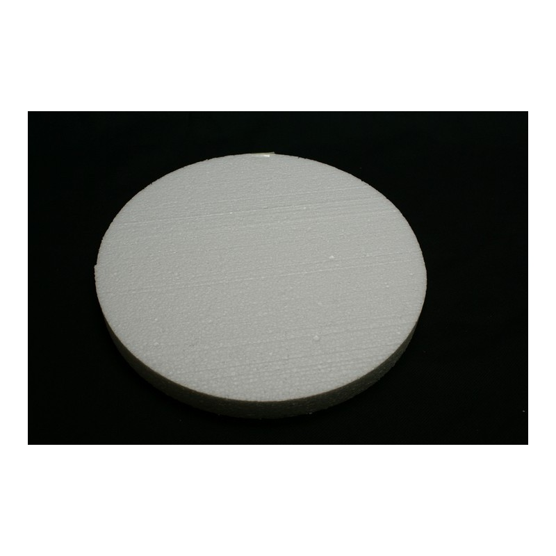 polystyrène : rond 400x400x29 mm